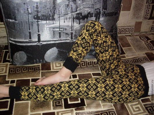 Одежда для девочек, ручной работы. Ярмарка Мастеров - ручная работа. Купить Лосины детские с жаккардовым рисунком-3. Handmade. Орнамент