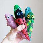 Куклы и игрушки ручной работы. Ярмарка Мастеров - ручная работа Ящерица войлочная - декоративная игрушка - ящерка из шерсти. Handmade.