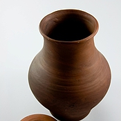 Для дома и интерьера ручной работы. Ярмарка Мастеров - ручная работа Крынка с крышкой, большая. Handmade.