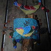 Украшения ручной работы. Ярмарка Мастеров - ручная работа В осеннем небе текстильный браслет. Handmade.