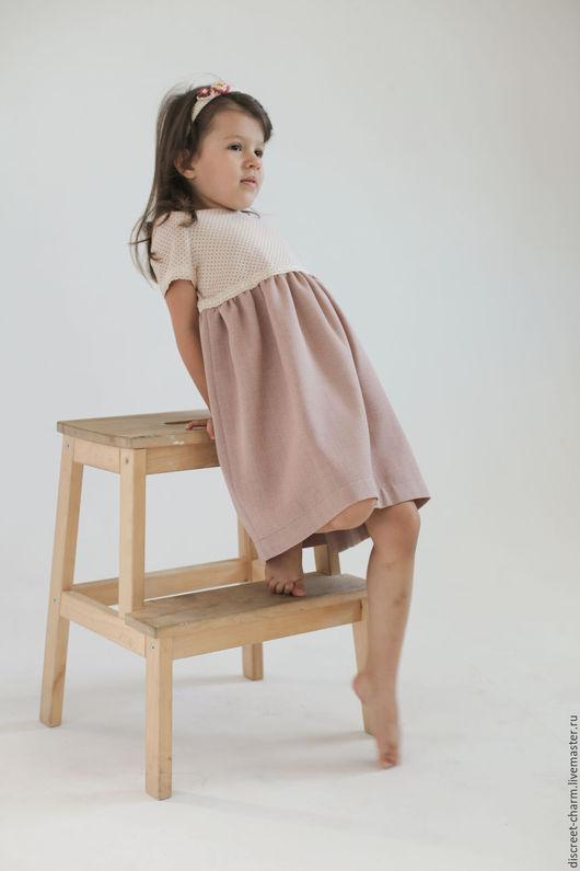 Одежда для девочек, ручной работы. Ярмарка Мастеров - ручная работа. Купить Романтичное розовое нарядное детское платье в горох, весеннее, летнее. Handmade.