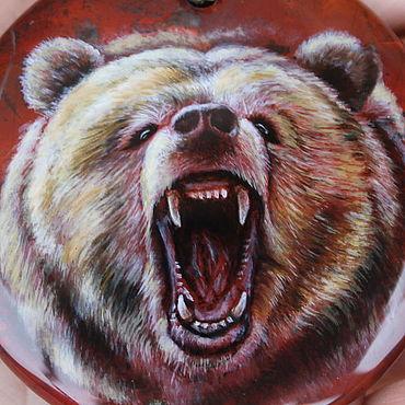 """Украшения ручной работы. Ярмарка Мастеров - ручная работа Кулон """"Злой медведь"""". Handmade."""