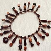 "Украшения handmade. Livemaster - original item Wooden necklace ""Rod and cone cells"". Handmade."