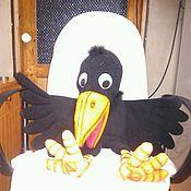 Куклы и игрушки handmade. Livemaster - original item Crow puppets. Doll on hand. Talkie Tina doll.. Handmade.