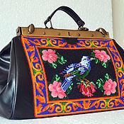Сумки и аксессуары handmade. Livemaster - original item Leather bag handmade beaded