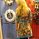 Dress 'Birthday girl' from Pavlovoposadskaja scarf. Dresses. hrom2483. My Livemaster. Фото №5