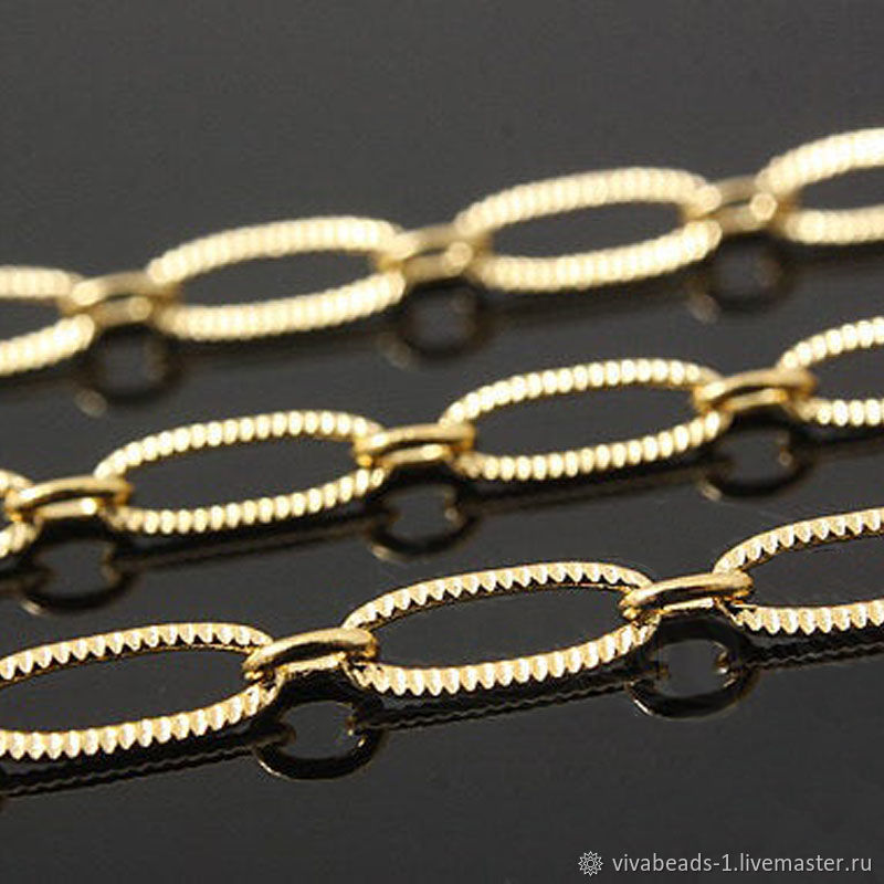 50cm Chain with 3,5 mm texture (thickness) gold plated U. Korea (2697), Chains, Voronezh,  Фото №1