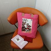Сумки и аксессуары handmade. Livemaster - original item Coral textile shopper bag flower fairy. Handmade.