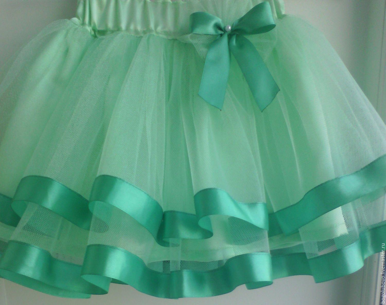 Зеленая детская юбка