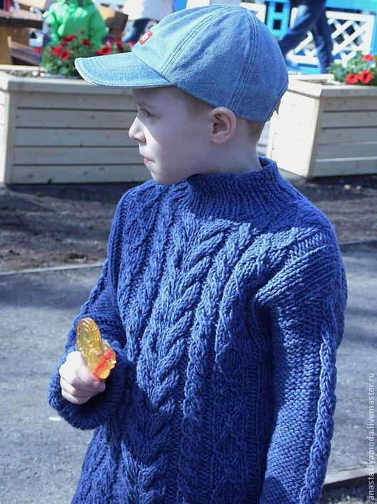 Одежда для мальчиков, ручной работы. Ярмарка Мастеров - ручная работа. Купить Свитер для мальчика JeaNs. Handmade. Тёмно-синий