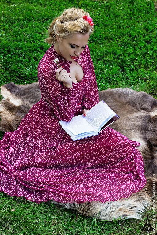 Платья ручной работы. Ярмарка Мастеров - ручная работа. Купить Платье (пояс в комплекте). Handmade. Длинное платье, платье на выпускной