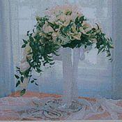 """Картины и панно ручной работы. Ярмарка Мастеров - ручная работа Вышитая картина """"Свадебный букет"""". Handmade."""