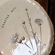 Посуда handmade. Livemaster - original item Plates Field cornflower 20cm. Handmade.
