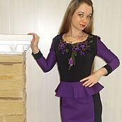"""Одежда ручной работы. Ярмарка Мастеров - ручная работа Платье """"Ночная фиалка"""". Handmade."""