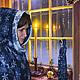 """Халаты ручной работы. Ярмарка Мастеров - ручная работа. Купить """"Зима, снег, волшебство..."""" теплый, уютный халат. Handmade."""