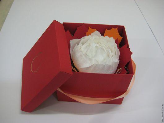 Свадебные цветы ручной работы. Ярмарка Мастеров - ручная работа. Купить Бумажные цветы в коробке. Handmade. Комбинированный, коробочка на свадьбу
