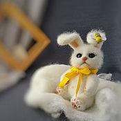 handmade. Livemaster - original item felt toy: Toy felted Hare game toy for children.. Handmade.