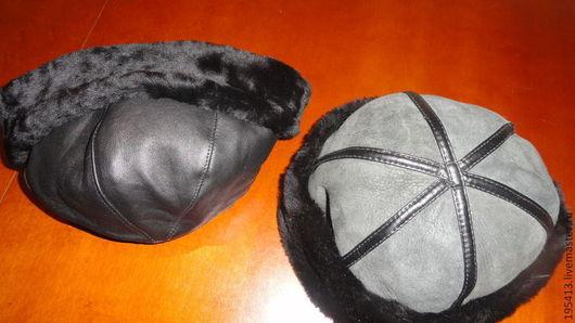 Для мужчин, ручной работы. Ярмарка Мастеров - ручная работа. Купить Шапка мужская ,натуральный мех,с отворотом. Handmade. Черный