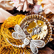 Украшения handmade. Livemaster - original item Embroidered brooch late summer. brooch Dragonfly. flower brooch. Handmade.