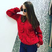 Одежда handmade. Livemaster - original item Sweater leaves womens sweater womens leaves 2017. Handmade.