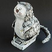 Куклы и пупсы ручной работы. Ярмарка Мастеров - ручная работа Коллекционная кукла из папье-маше Стокилограммовый кот. Handmade.