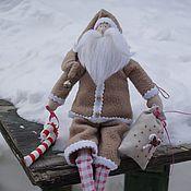Куклы и игрушки ручной работы. Ярмарка Мастеров - ручная работа Санта в бежевом.. Handmade.