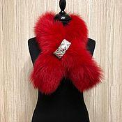 Аксессуары handmade. Livemaster - original item Fox fur collar