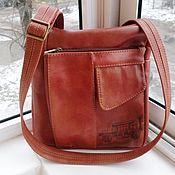 Сумки и аксессуары handmade. Livemaster - original item Bag men`s leather engraved A La Piguardo 2. Handmade.