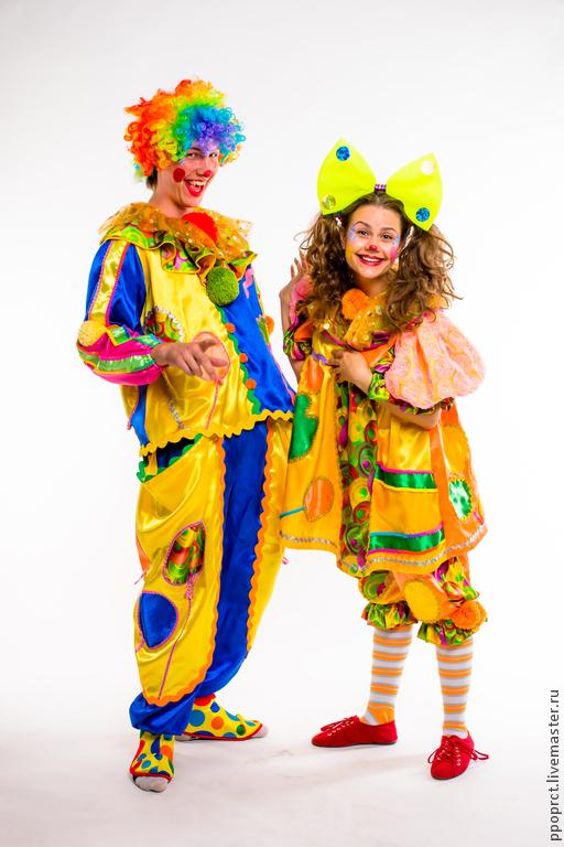 Карнавальные костюмы ручной работы. Ярмарка Мастеров - ручная работа. Купить костюм клоуна,клоунессы. Handmade. Праздник, клоунесса, шёлк
