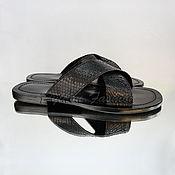 Обувь ручной работы handmade. Livemaster - original item Mens sandals from Python DOMINIQUE. Handmade.