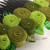 Украшения handmade. Livemaster - original item Barrette comb green. Handmade.