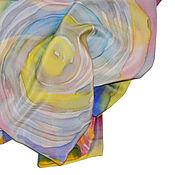 """Аксессуары ручной работы. Ярмарка Мастеров - ручная работа Шелковый шарф """"Планета любви"""". Шарф шелковый. Handmade."""