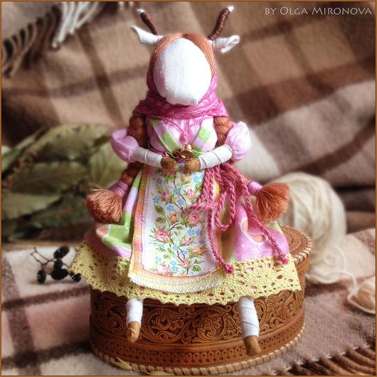Народные куклы ручной работы. Ярмарка Мастеров - ручная работа. Купить Коза-Дереза. Handmade. Комбинированный, текстильная кукла, лён