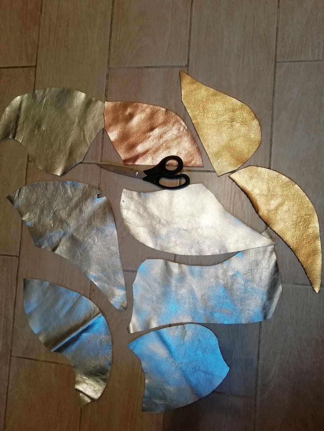 Аппликации, вставки, отделка ручной работы. Ярмарка Мастеров - ручная работа. Купить Лоскуты кожи, лот А 326, толщина 1,5 мм, вес 0,4 кг. Handmade.