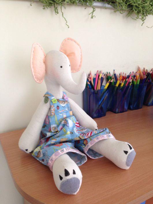 Куклы Тильды ручной работы. Ярмарка Мастеров - ручная работа. Купить Слоник в стиле Тильда. Handmade. Слон, слон игрушка