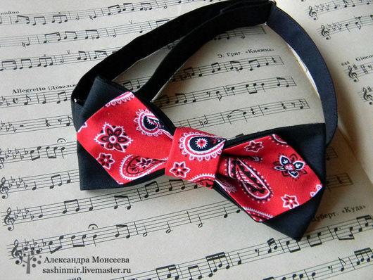 """Галстуки, бабочки ручной работы. Ярмарка Мастеров - ручная работа. Купить Бабочка-галстук """"Пейсли"""". Handmade. Ярко-красный"""