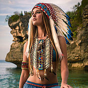 Подарки к праздникам handmade. Livemaster - original item Indian headdress - roach