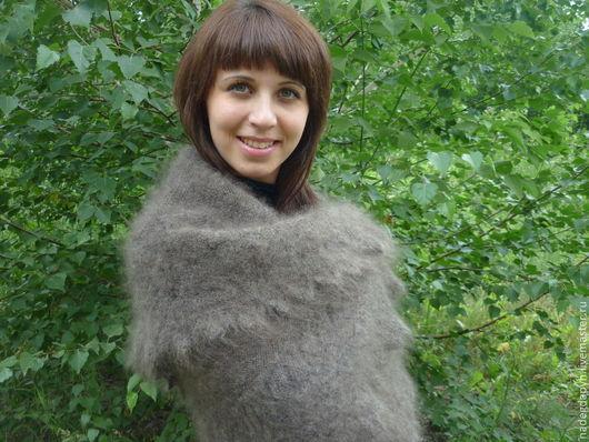 """Шали, палантины ручной работы. Ярмарка Мастеров - ручная работа. Купить 17-оренбургский пуховый платок шаль """"Теплое чудо"""" плед. Handmade."""