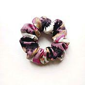 Резинка для волос ручной работы. Ярмарка Мастеров - ручная работа Резинка для волос: Хлопковая резинка для волос розовая. Handmade.