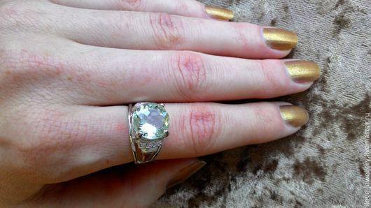 """Кольца ручной работы. Ярмарка Мастеров - ручная работа. Купить """"Диана"""" - классическое кольцо с красивым зеленым аметистом. Handmade."""