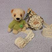Куклы и игрушки ручной работы. Ярмарка Мастеров - ручная работа Мишка вязаный Оливер. Handmade.