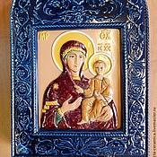 Картины и панно handmade. Livemaster - original item Ceramic icon of the Mother of God. Handmade.