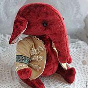 Куклы и игрушки ручной работы. Ярмарка Мастеров - ручная работа Слон тедди Назар. Handmade.