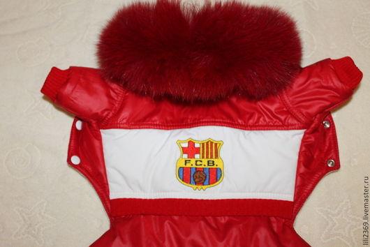 """Одежда для собак, ручной работы. Ярмарка Мастеров - ручная работа. Купить Комбинезон """"БАРСЕЛОНА"""". Handmade. Ярко-красный, одежда"""