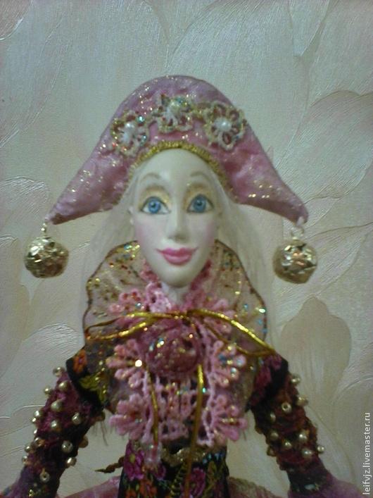 Коллекционные куклы ручной работы. Ярмарка Мастеров - ручная работа. Купить :Жемчужинка. Handmade. Розовый, ручная роспись лица, капрон