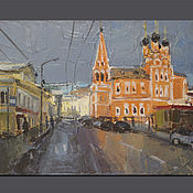 Картины и панно handmade. Livemaster - original item The Church Of St. Nicholas.Taganka. mini-painting. Handmade.