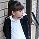жакет вязаный, жакет для девочки, школьная форма, итальянский меринос, вязание для детей, осень  2016