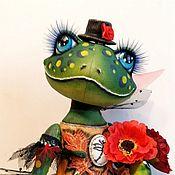 Dolls handmade. Livemaster - original item Frog green. textile doll.. Handmade.
