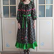 Одежда handmade. Livemaster - original item Long dress in boho country style
