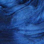 """Материалы для творчества ручной работы. Ярмарка Мастеров - ручная работа шелк Тусса окрашеный цвет синий """"Шагал"""" 10 грамм. Handmade."""